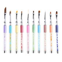 BAHYHAQ - 10 Colors UV Gel Pen Nail Art Carving Pen Brushes Acrylic Handle - $3.98