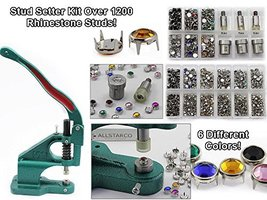 KraftGenius Starter Kit - Stud Setter Plus Approx 1200 Rhinestone Studs in 3 Siz - $195.03
