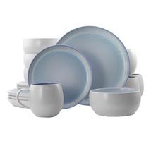 Elama Mocha 16 Piece Stoneware Dinnerware Set in Blue - $73.19