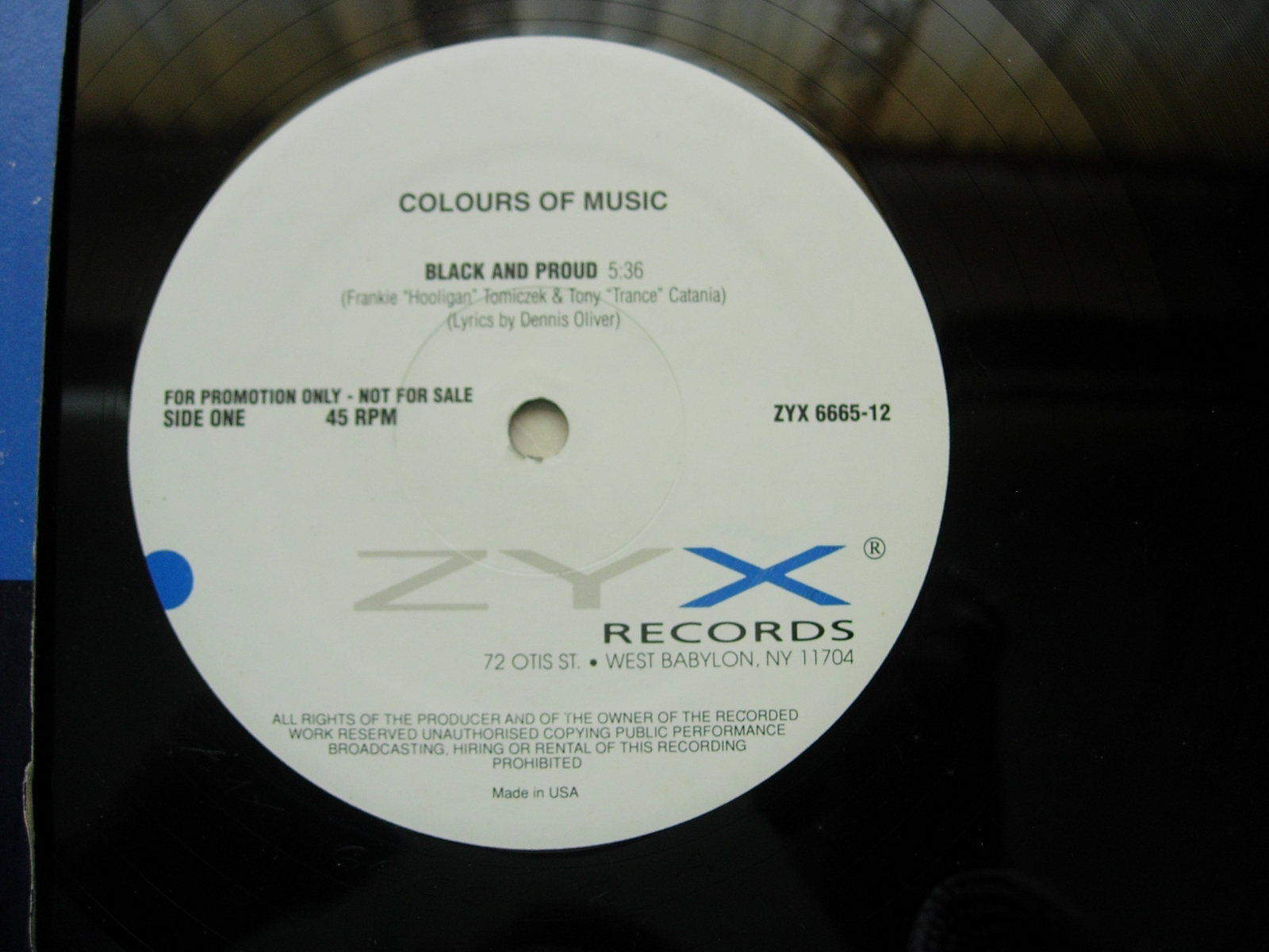 Colours of Music - Black and Proud - ZYX Records 6665-12