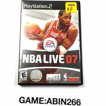 NBA Live 07 Basketball Video Game For Ps2 PlayStation 2 Complete - $13.32