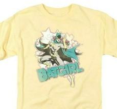 Batgirl T-shirt SuperFriends retro 80s cartoon DC yellow graphic tee DCO470 image 1