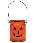 Glass Halloween Pumpkin Lantern Tea Light Candles - $19.79