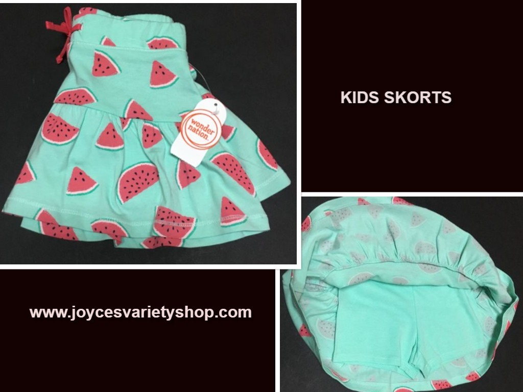 Wonder nation watermelon skorts web collage