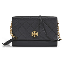 Tory Burch Georgia Black Leather Cross Body Ladies Bag 41709 - $329.00