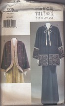 Vogue Marcy Tilton 7215 Hooded Kimono Jacket Pattern 18-20-22 C. 1999 - $6.92