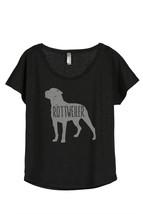 Thread Tank Rottweiler Dog Silhouette Women's Slouchy Dolman T-Shirt Tee Heather - $24.99+