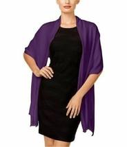 INC International Concepts Satin Wrap Pashmina Scarf Hijab, Purple - $15.84