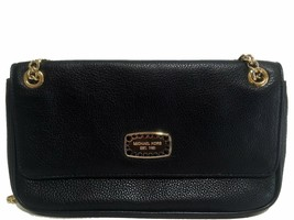 Michael Kors Pebbled Leather Chain Clutch Black - $109.40