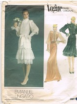 Vintage Vogue Paris Original Emanuel Ungaro Designer Sewing Pattern - $9.95