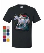 Space Cat Riding a Unicorn with a Saber T-Shirt Weird Universe Tee Shirt - $8.66 - $19.99