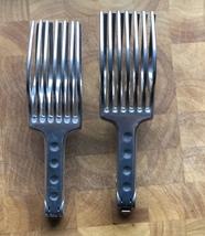 2 Vintage Large Cast Aluminum Handheld Slicers-Tomatoes- Roast Meat- TAI... - $21.29