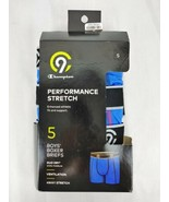 Champion 9 Boys Boxer Briefs 5 Pack Size Small Performance Stretch Duo Dry - $18.70
