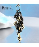 Beier new store 316L Stainless Steel Classic Animal Oriental Dragon Pend... - $13.24