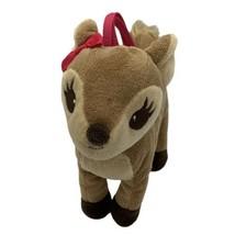 Gymboree Woodland Friends Deer Tan Brown Tote Purse Plush Handle Fall Pi... - $24.70
