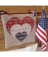 R-111A Patriotic Hearts patriotic cross stitch chart Rovaris   - $12.00