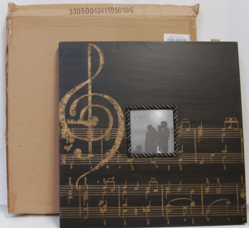 Tripar International 59629 Black Wooden Music Notes Picture Frame 20 inch