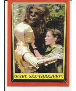 STAR WARS RETURN OF THE JEDI #95 QUIET SEE-THREEPIO TOPPS - $2.02