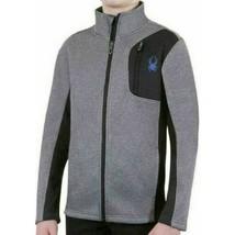 Spyder Boys Fleece Lined Full Zip Sweater Jacket Coal Heather - $38.99