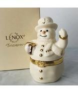 Lenox Treasures The Spirit Of The Season Hinged Trinket Box 1999 Snowman... - $21.52