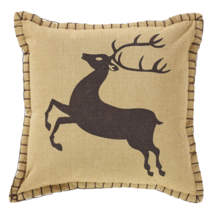 "Prancer Pillow 2-pc Set - 10""x10"" - VHC Brands - Country Farmhouse Christmas"