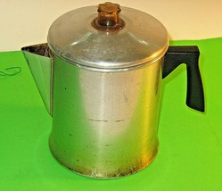 Vintage Mirro Stove-Top  5-7 Cup Coffee Percolator: Use It When The Powe... - $12.82