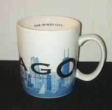 Chicago Starbucks Mug / 16 oz / 2002 Skyline Barista Series 1 Windy City... - $24.24