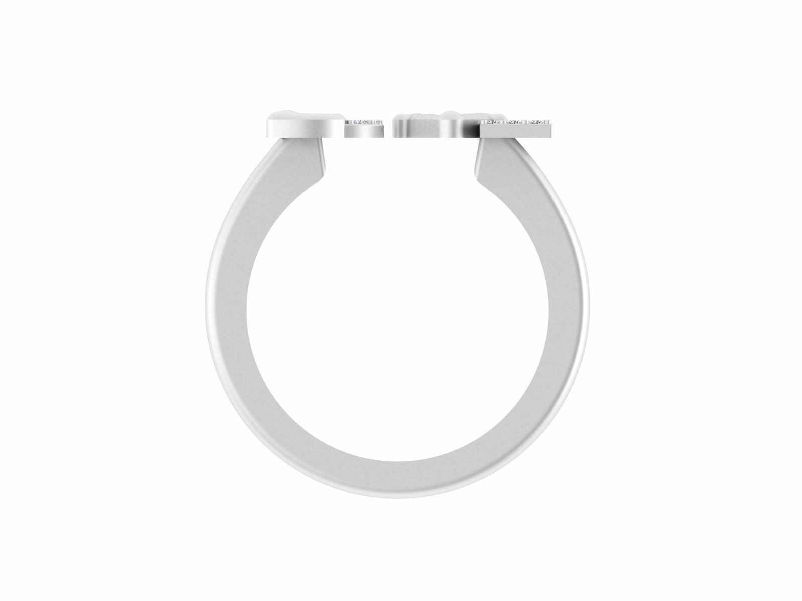 0.11ct Certified SI-IJ Round Brilliant Cut Diamond 10k Real Gold Love Ring