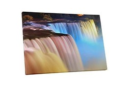 "Pingo World 0726QZ6POOA ""Niagara Falls Color Water Streams"" Gallery Wrap... - $54.40"