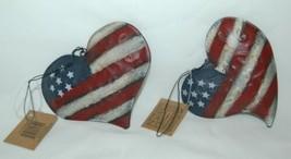 Hannas Handiworks 60650 American Flag 4 Ornament Set 2 Hearts 1 Ball Star image 2