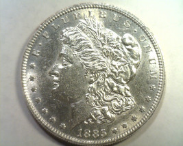 1885 MORGAN SILVER DOLLAR CHOICE ABOUT UNCIRCULATED CH. AU NICE ORIGINAL... - $46.00