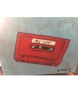 ONE OF A KIND ICONIC 80'S CASSETTE TAPE 12X16 ACRYLIC. PERFECT 4 MAN CAV... - $94.95