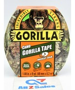 """Gorilla Camo Duct Tape, 1.88"""" x 9 yd, Mossy Oak, (Pack of 1) - NEW - $14.80"""