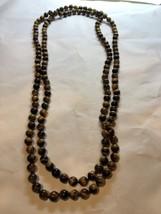 Fait à la Main Véritable Rouge de Tigre Oeil Main Noué Perles 157cm Collier - $94.76