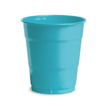 12 oz Solid Plastic Cups Bermuda Blue/Case of 240 - $55.88