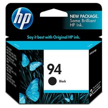 Genuine HP 94 Ink Cartridge - Black (C8765WN) #140 Single Cartridge - $14.64