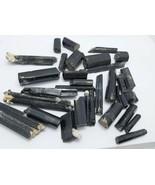 Black tourmaline beads quality rough polished crystals Pakistan 295 grams - $54.45