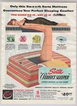 1948 Serta Mattress Sleeping Woman Sexy Black Negligee Perfect Sleeper P... - $12.59