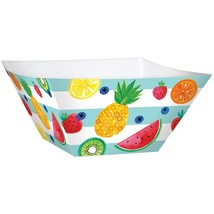 amscan Tableware Collections, Fruit Large Square Paper Bowls, Party Supplies, Mu - $25.07