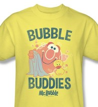 Mr. Bubble T-shirt Buddies vintage inspired retro yellow 100% cotton graphic tee image 1