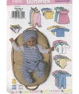 BUTTERICK PATTERN 5896 INFANTS JACKET , DRESS, TOP, ROMPER, DIAPER COVER... - $9.85