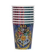 Harry Potter Hogwarts House 9 oz Paper Beverage Cups 8 Per Package New - $3.22