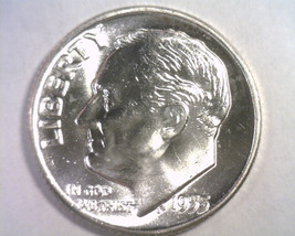 1955 ROOSEVELT DIME GEM UNCIRCULATED GEM UNC. NICE ORIGINAL COIN FROM BO... - $9.00