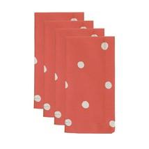 Kate Spade Charlotte Street Hot Coral 20x20 Napkins, Set of 4 NEW - $23.36