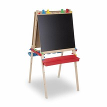 Melissa & Doug Deluxe Standing Art Easel Dry Erase Chalkboard Paper Roller NEW - $105.65