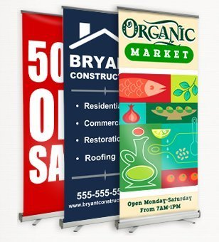 "Personalized Roller Banner Stands - 78""x33"""