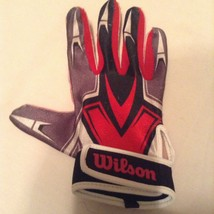 Wilson batting glove Youth Size large single right hand red white - $9.59