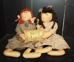 Primitive Decor  KLY17004- Best Friends Doll  - €22,72 EUR