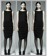 Catherine Malandrino For DesigNation Black Sleeveless Ruched Dress - Siz... - $44.95