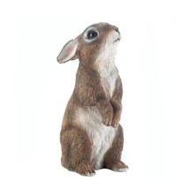 *17886B  Brown Standing Bunny Rabbit Garden Statue Yard Art - $12.55